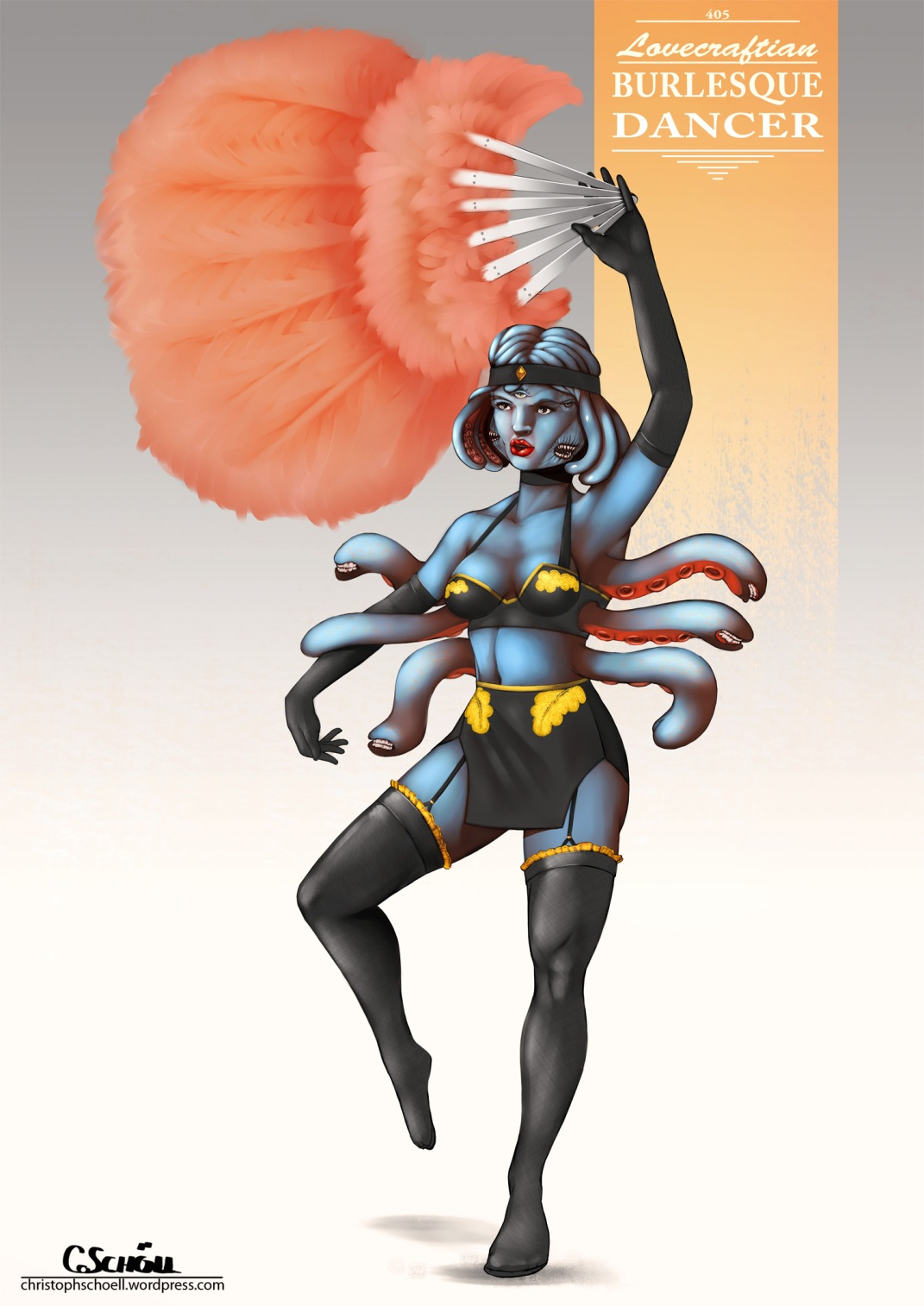 CHOW405_Lovecraftian_Burlesque_Dancer